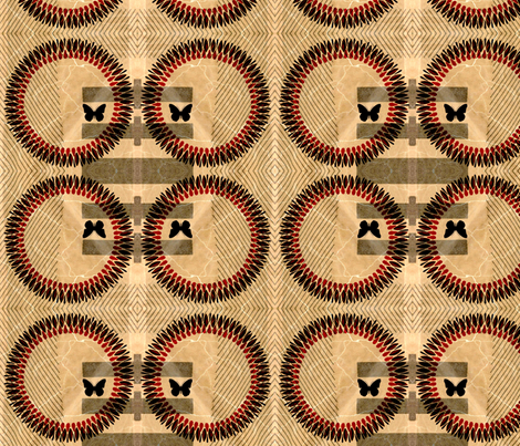 retro ring fabric by nascustomlife on Spoonflower - custom fabric