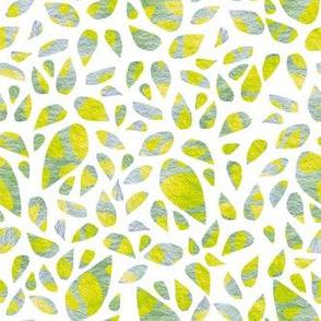 Stone, lemon leaves