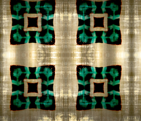 Ancestry green fabric by nascustomlife on Spoonflower - custom fabric
