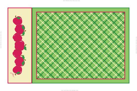 Red Apples Tea Towel fabric by jjtrends on Spoonflower - custom fabric