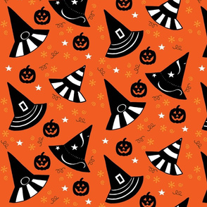 Pumpkin Patch Hats - orange