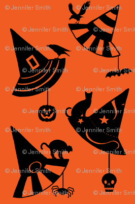 Halloween Hats - orange/black