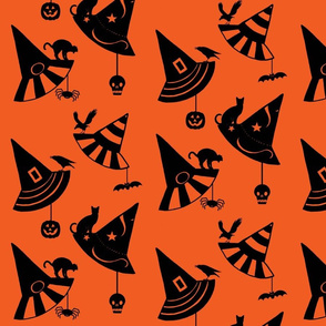 Halloween Hats - orange/black
