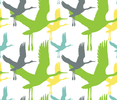the aviary fabric by boxercox on Spoonflower - custom fabric