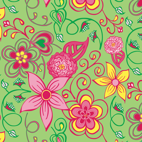 Pixie Vine fabric by kari_d on Spoonflower - custom fabric
