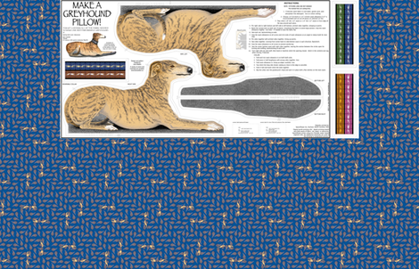 Greyhound Pillow Kit - Red Fawn Brindle Male fabric by artbyjanewalker on Spoonflower - custom fabric