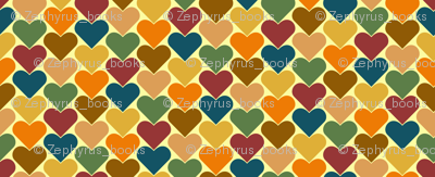 Multi-Colored Hearts - Orange, Blue, Brown, Green, Pink, Purple, Yellow