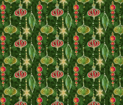 ornaments_200star fabric by wren_leyland on Spoonflower - custom fabric
