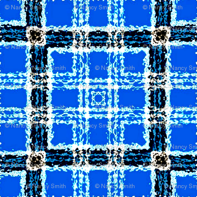 Blue sky plaid