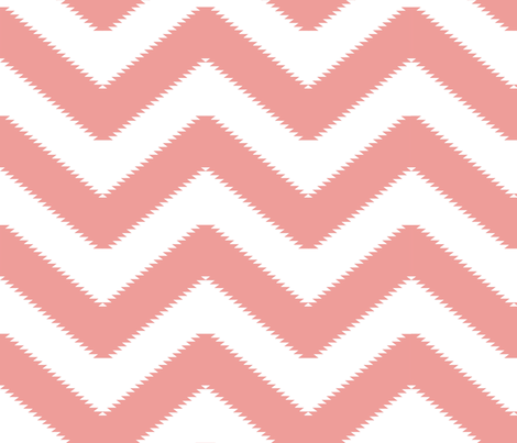 zigzag soft coral Chevron fabric by mirthquake on Spoonflower - custom fabric