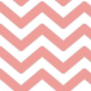 zigzag soft coral Chevron