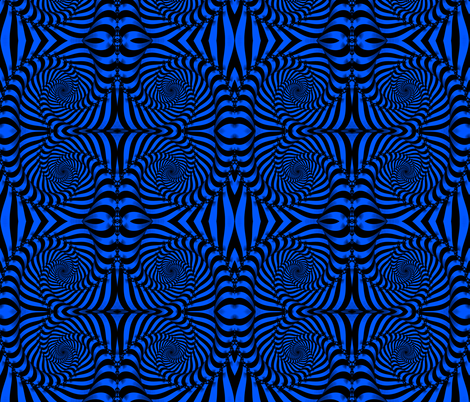 Electric Blue Boog-a-loo fabric by whimzwhirled on Spoonflower - custom fabric