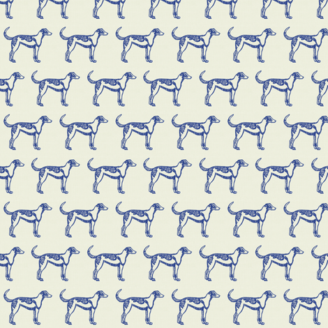 Le Chien fabric by ragan on Spoonflower - custom fabric