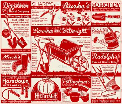 Gardening Tools Advertising ~ Red
