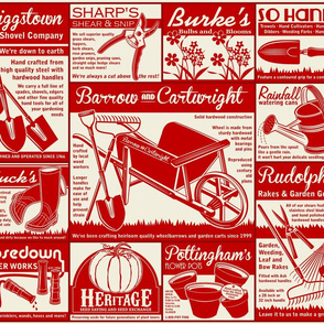 Gardening Tools Advertising ~ Red