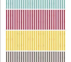 Hazel Atlas Tea Towel || midcentury modern vintage retro kitchen stripes cut and sew diy