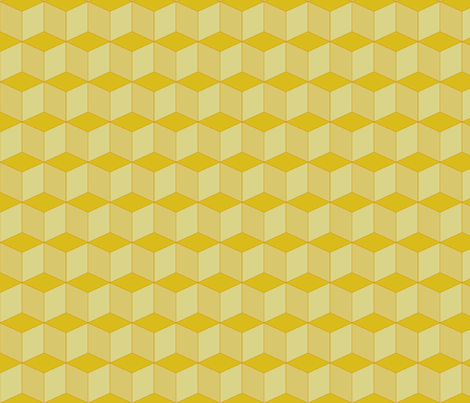 Colorful Tessellated Squares - Yellow fabric by zephyrus_books on Spoonflower - custom fabric