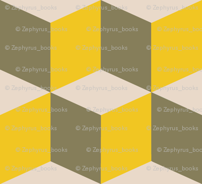 Colorful Tessellated Squares - Yellow, Gray and Beige
