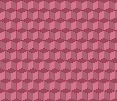 Colorful Tessellated Squares - Red Pink fabric by zephyrus_books on Spoonflower - custom fabric