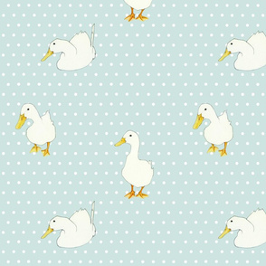 Ducks on White Dots