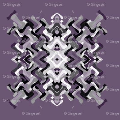 Plum Pixelated Square © Gingezel™ 2012