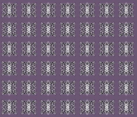 Plum Pixelated Square © Gingezel™ 2012 fabric by gingezel on Spoonflower - custom fabric