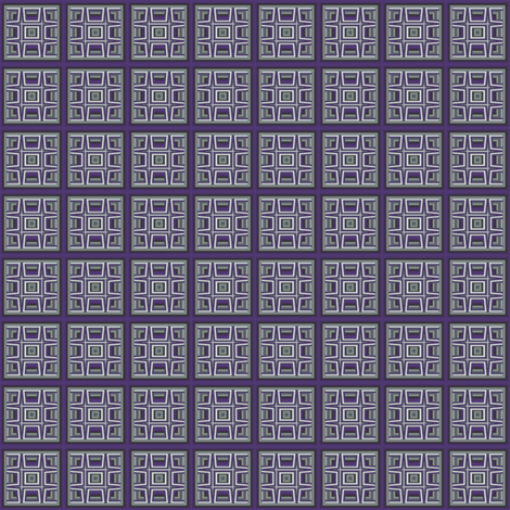 Plum Tiled Grid © Gingezel™ 2012 fabric by gingezel on Spoonflower - custom fabric