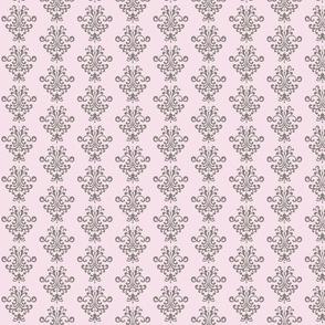 Pink Gray Damask