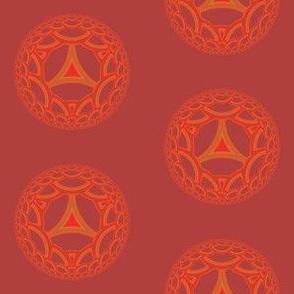 Geranium Red Esher Disks © Gingezel™ 2012
