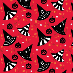 Pumpkin Patch Hats - red