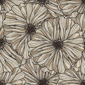 Neutral Linen floral