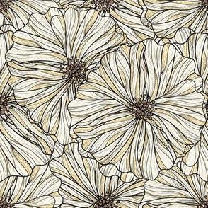 Light Neutral Linen Floral