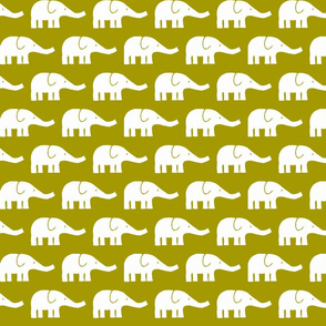 MEDIUM Elephants in olive green