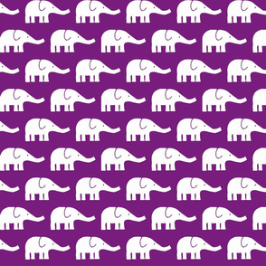 MEDIUM Elephants in violet