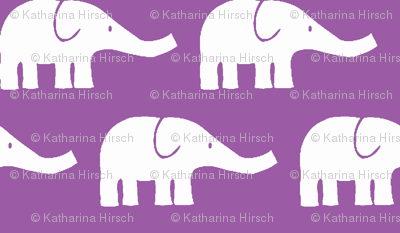 MEDIUM Elephants in violet-ch