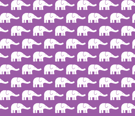 MEDIUM Elephants in violet-ch fabric by katharinahirsch on Spoonflower - custom fabric