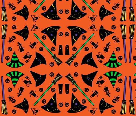 Trick-or-Treat - orange fabric by painter13 on Spoonflower - custom fabric