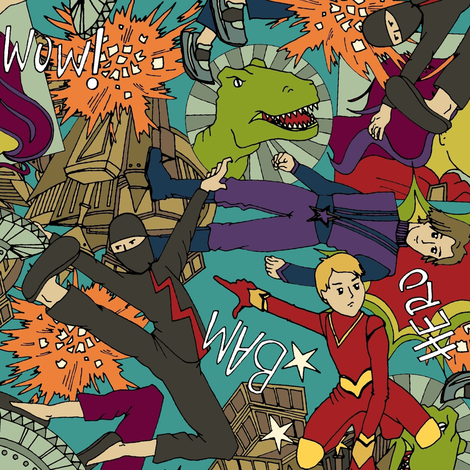 comic chaos fabric by scrummy on Spoonflower - custom fabric