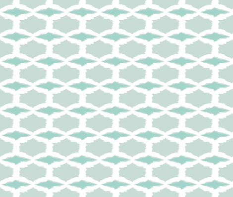 Spring Diamonds-white/seafoam-ch fabric by fable_design on Spoonflower - custom fabric