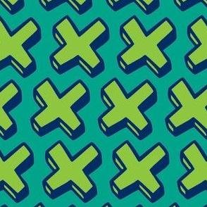 green crosses