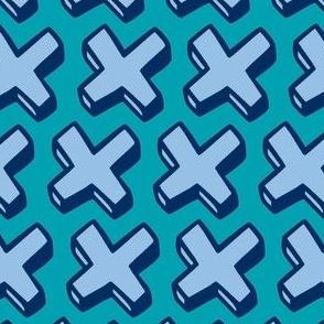 blue crosses
