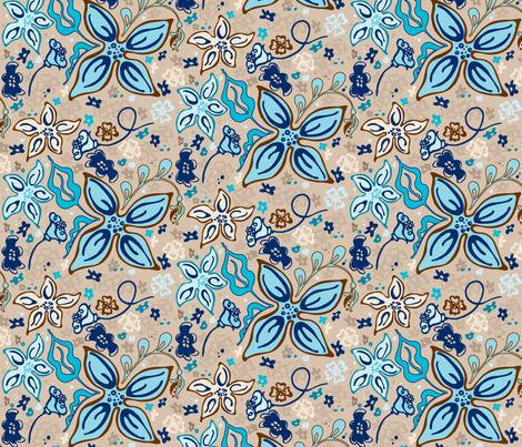 Fling Flowers fabric by kari_d on Spoonflower - custom fabric