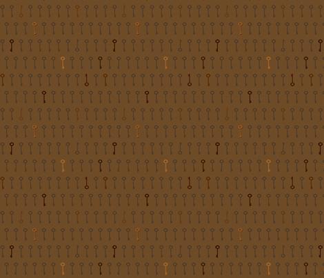 keys_coffee fabric by glimmericks on Spoonflower - custom fabric