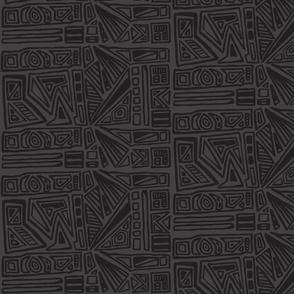 Charcoal Brushstrokes