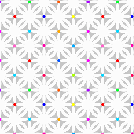 daisy dots fabric by keweenawchris on Spoonflower - custom fabric