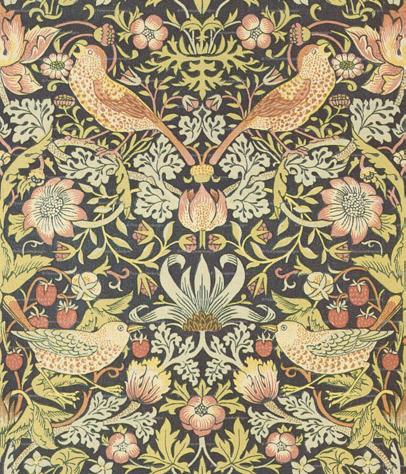William Morris Strawberry Thief Wallpaper
