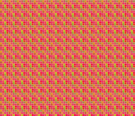 Carrés Bollywood fabric by manureva on Spoonflower - custom fabric