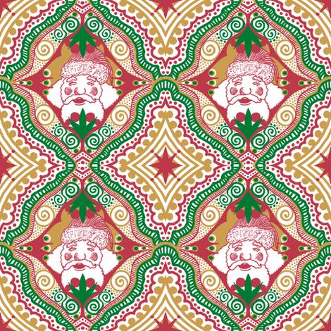 Framing Santa : ) fabric by tallulahdahling on Spoonflower - custom fabric