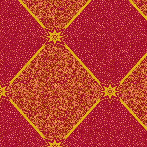 Circus Wagon Xmas: Harlequin Star fabric by tallulahdahling on Spoonflower - custom fabric