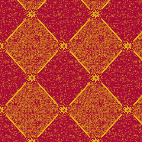 Circus Wagon Xmas: Harlequin Star - Small fabric by tallulahdahling on Spoonflower - custom fabric